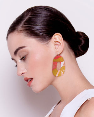 Flossy Kate Mayes Organic Shape Drop Earrings