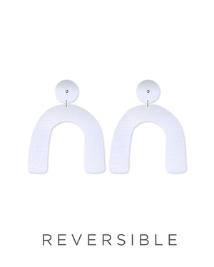 Reversible Water Joan Arch Drop Stud Earrings