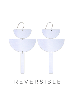 Reversible Sky Joan Chandelier Statement Drop Earrings