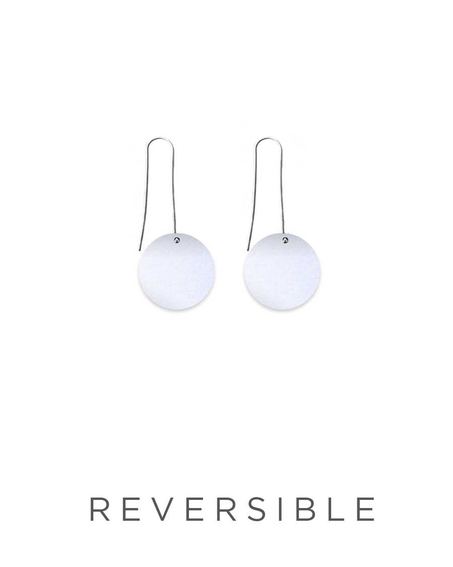Speckles Pattern Circle Long Drop Earrings