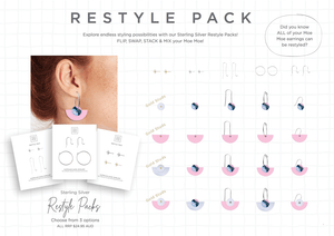 Sterling Silver Restyle Pack - Studs and Long Hooks