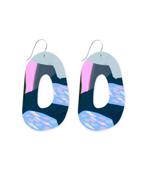 Sky Joan Blond Organic Shape Drop Earrings