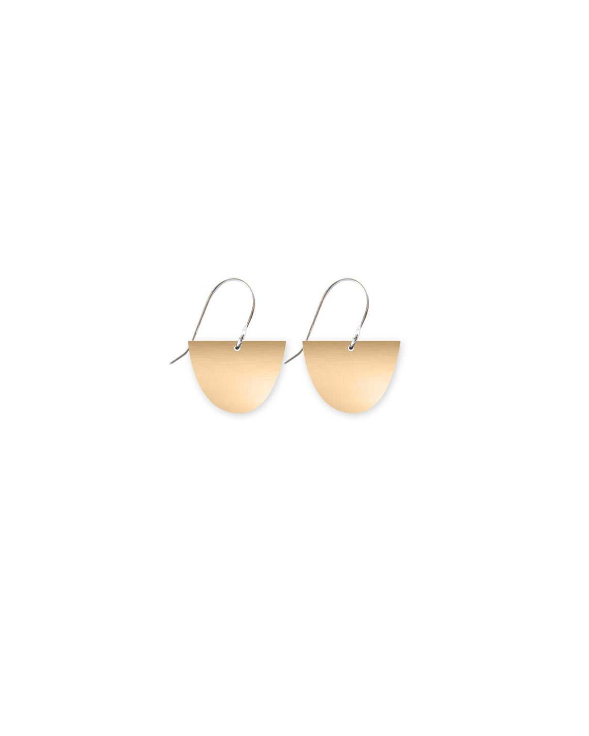 Reversible Light Gold Small Bell Drop Earrings