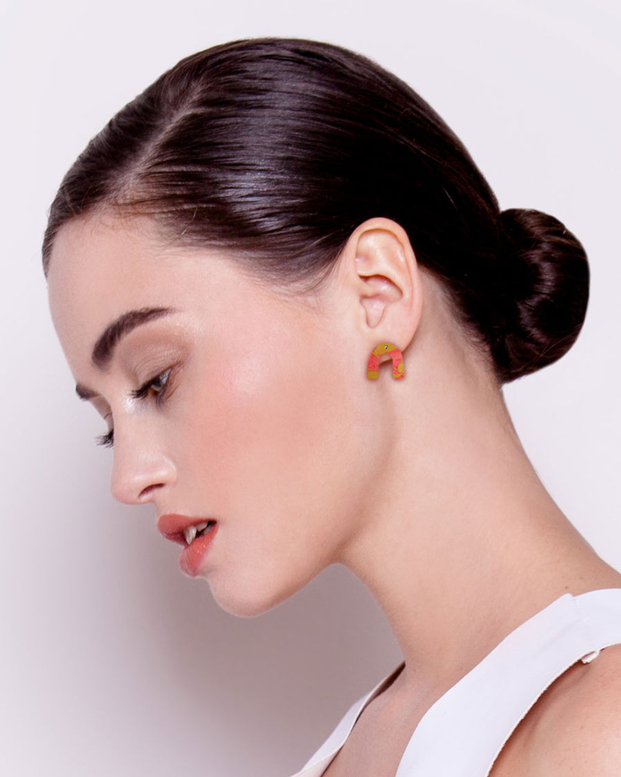 Flossy Kate Mayes Small Arch Stud Earrings