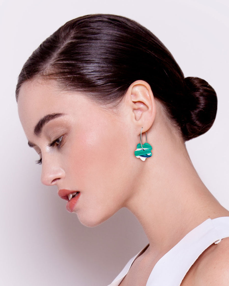 Hero Kate Mayes Small Flower Hoop Earrings