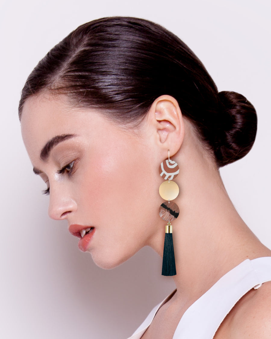 Storylines Miimi and Jiinda Big Tassel Drop Earrings