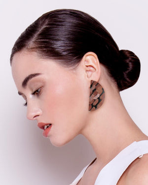 Storylines Miimi and Jiinda Big Wedge Stud Earrings
