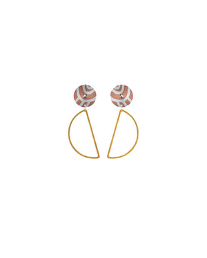 Storylines Miimi and Jiinda Hanging Moon Stud Earrings