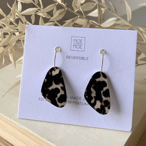 Tortoise Shell Pippi Hoop Earrings