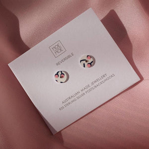 Tulip Bud Myriam Van Neste Mini Circle Stud Earrings
