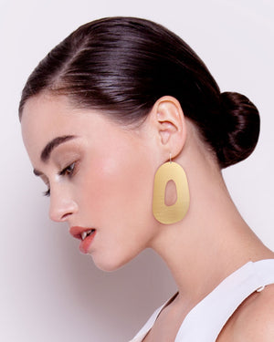 Signature Organic Shape Drop Earrings