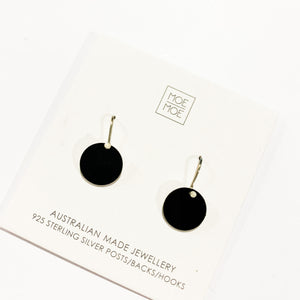 Black Small Circle Drops - OUTLET