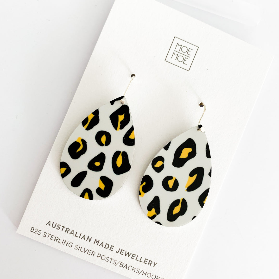 Neutral Leopard Medium Tear Drops - OUTLET