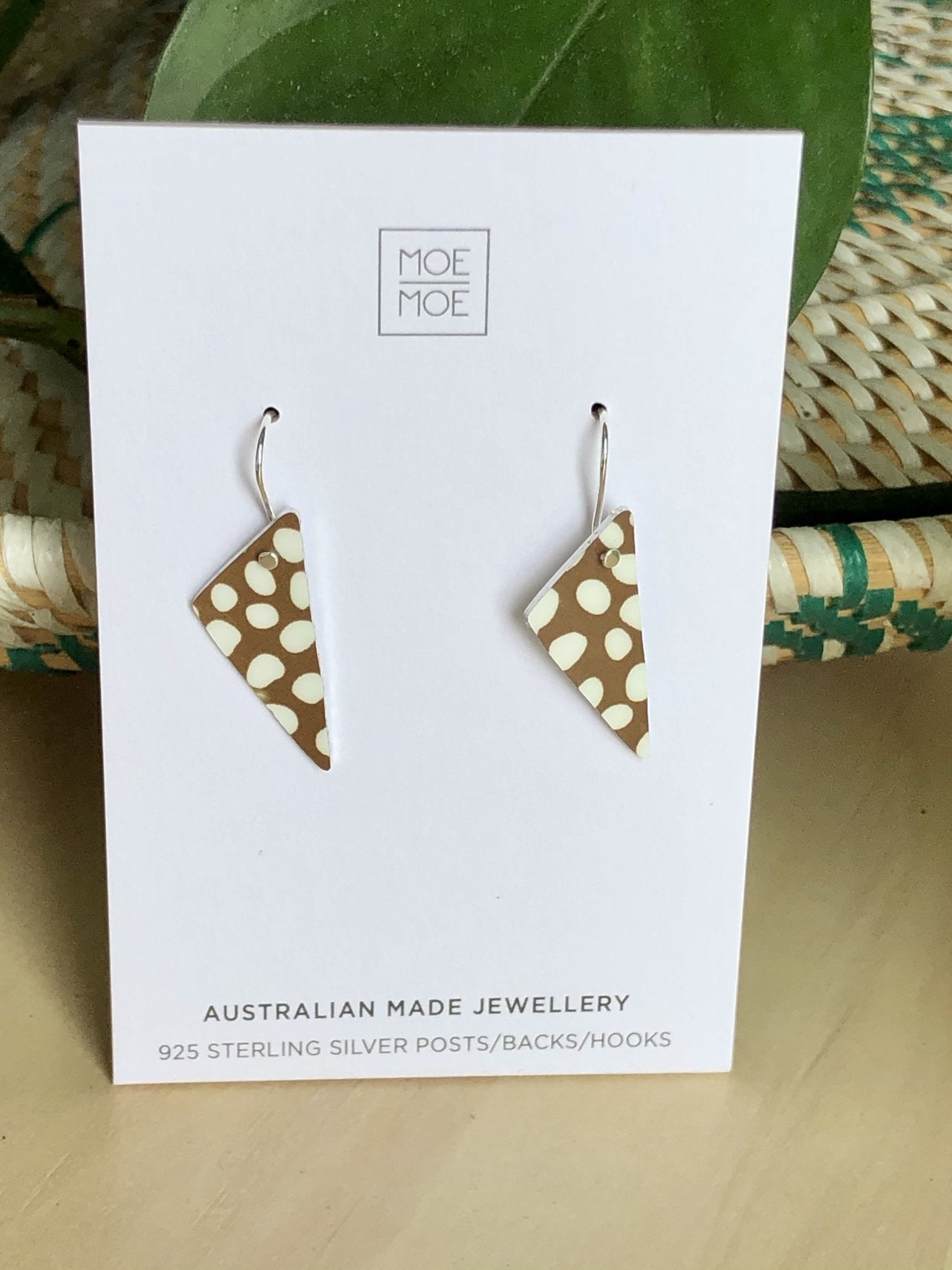 Speckles Pattern Small Triangle Drop Earrings