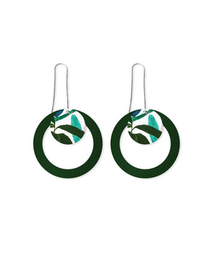 Hero Kate Mayes Layered Circle Outline Long Drop Earrings