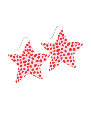 SPECIAL EDITION Speckles Big Star Drop Earrings