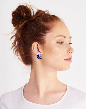 Water Joan Blond Layered Medium Circle Stud Earrings