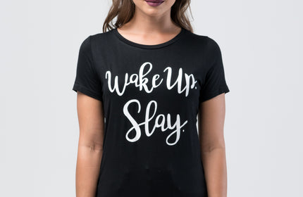WAKEUP. SLAY. Women's Relaxed Fit T-Shirt