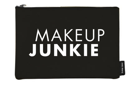 Black Canvas Makeup Bag Makeup Junkie