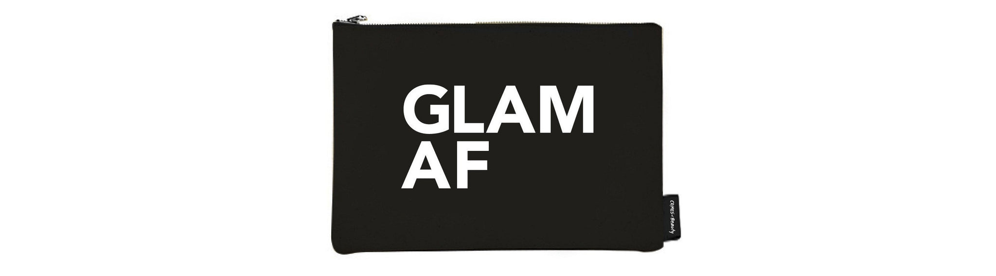 BLACK CANVAS MAKEUP BAG GLAM AF