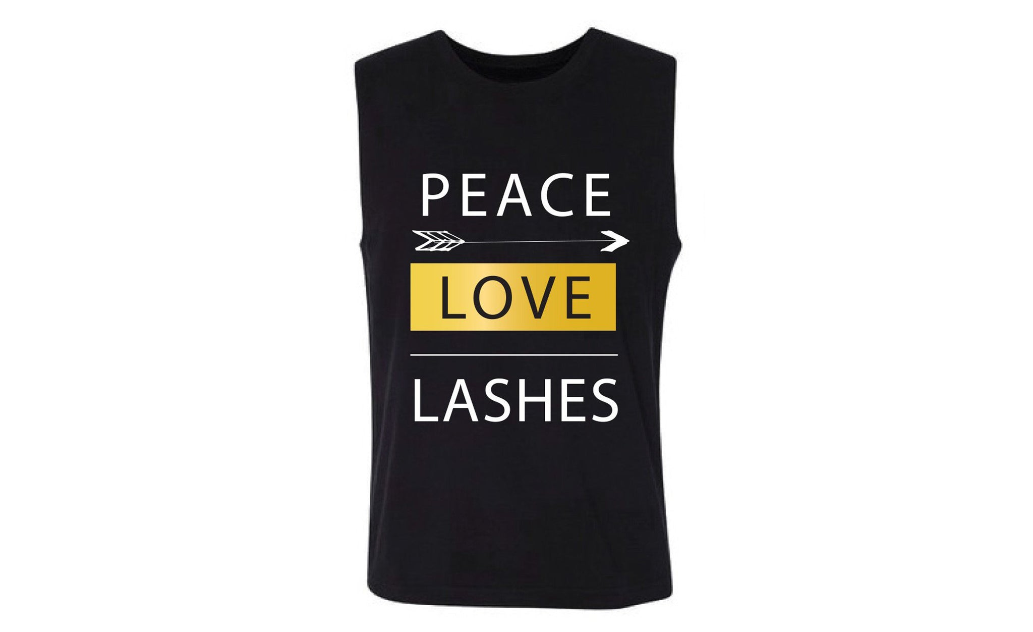 PEACE LOVE LASHES Women's Muscle Tank