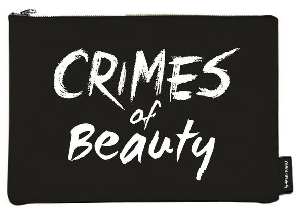 Crimes of Beauty Black Canvas Makeup Bag