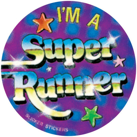 #205 I'm A Super Runner Stickers