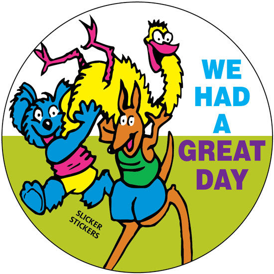 We Had A Great Day Stickers School Merit Solutions