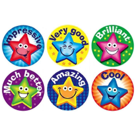 #256 Stars Chart Seal Stickers Multipack