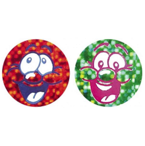 #260 Smiley Face Metallic Chart Seal Stickers Multipack