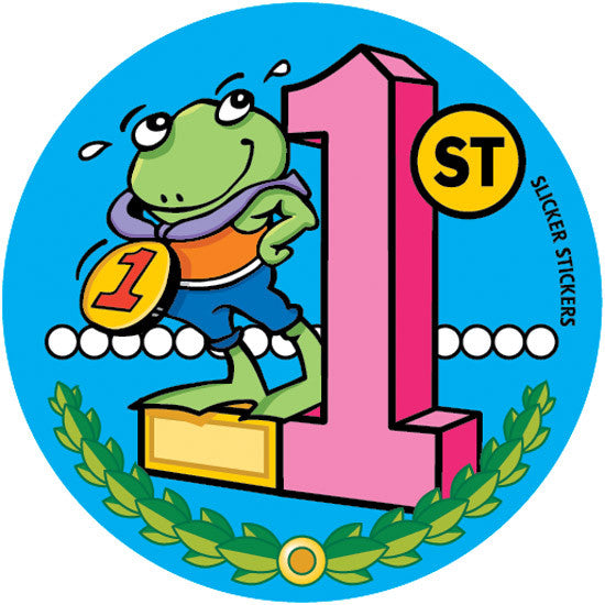 271 1st place frog stickers