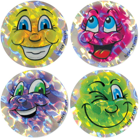 #311 Smiley Face Stickers Metallic Multipack
