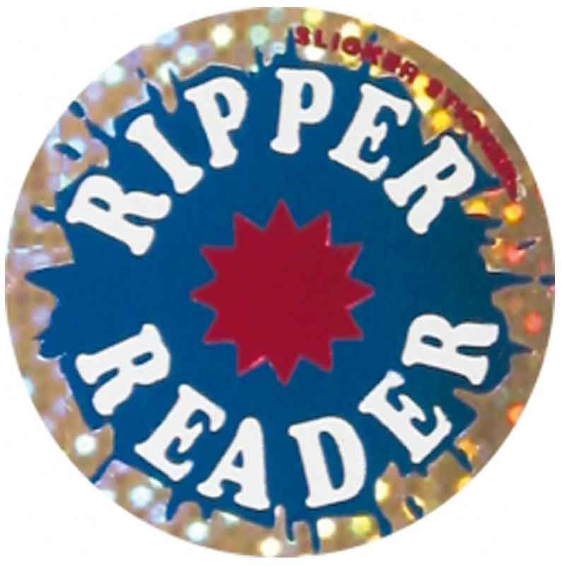 #527 Ripper Reader Metallic Stickers