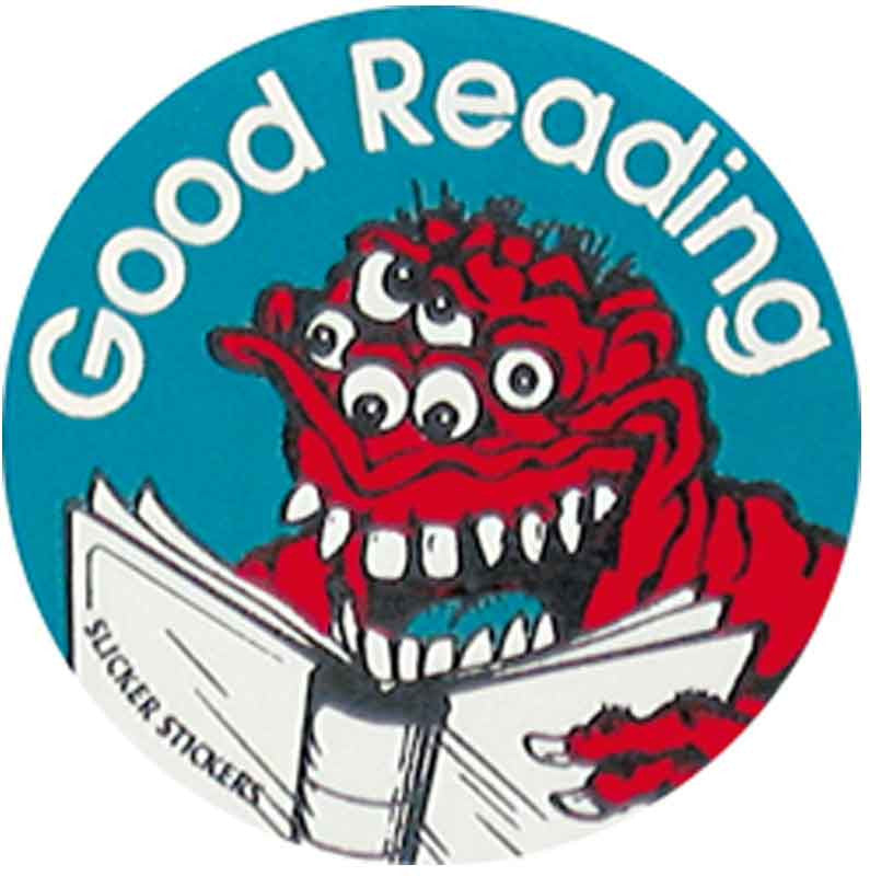 #530 Good Reading Metallic Stickers