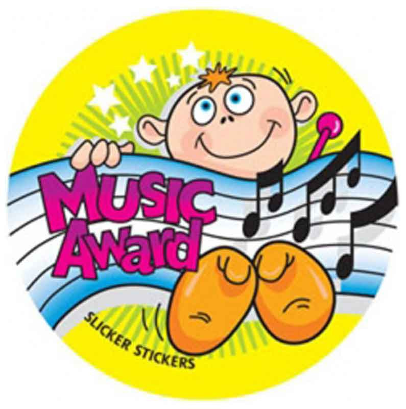 #537 Music Award Stickers