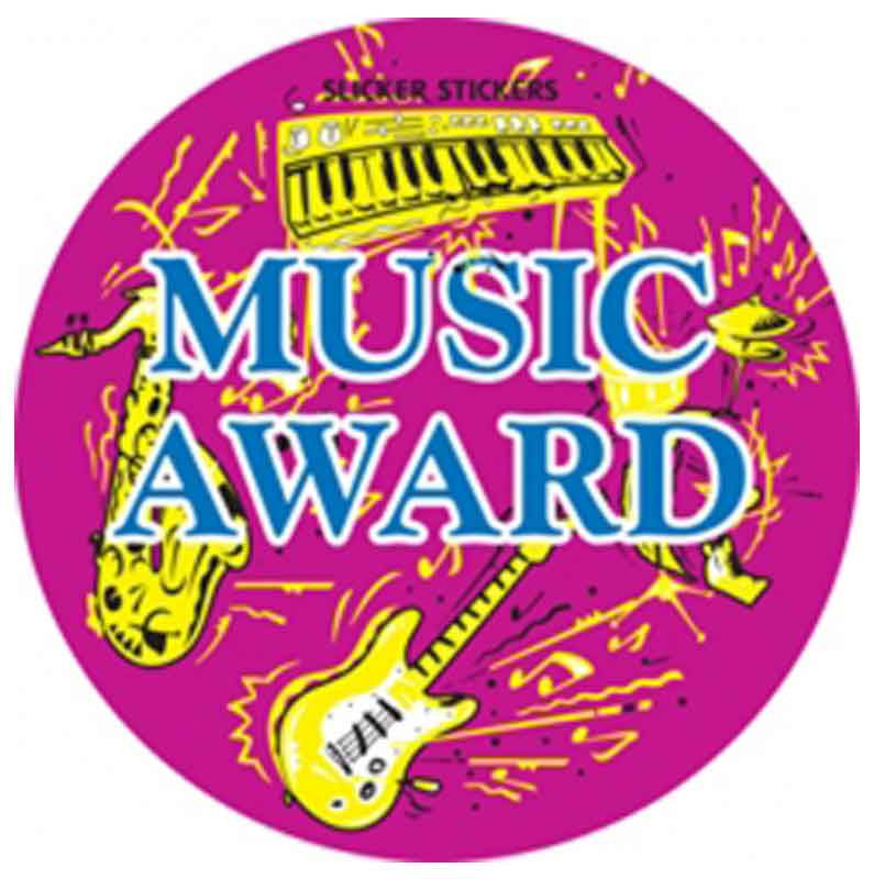 #538 Music Award Stickers