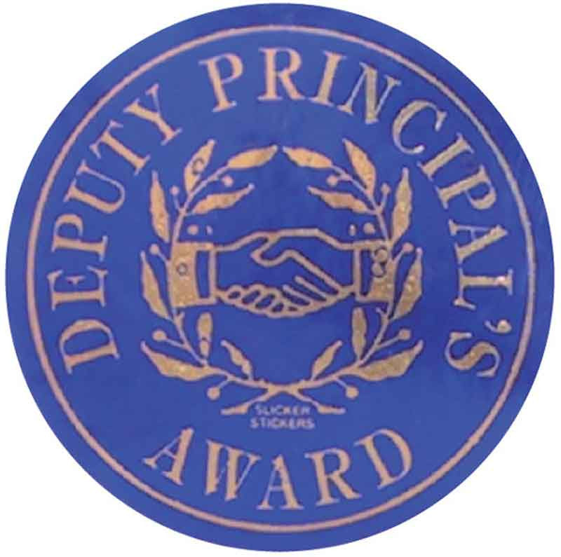 #578 Deputy Principal's Award Metallic Stickers