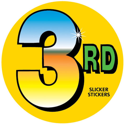 #642 3rd Place Stickers