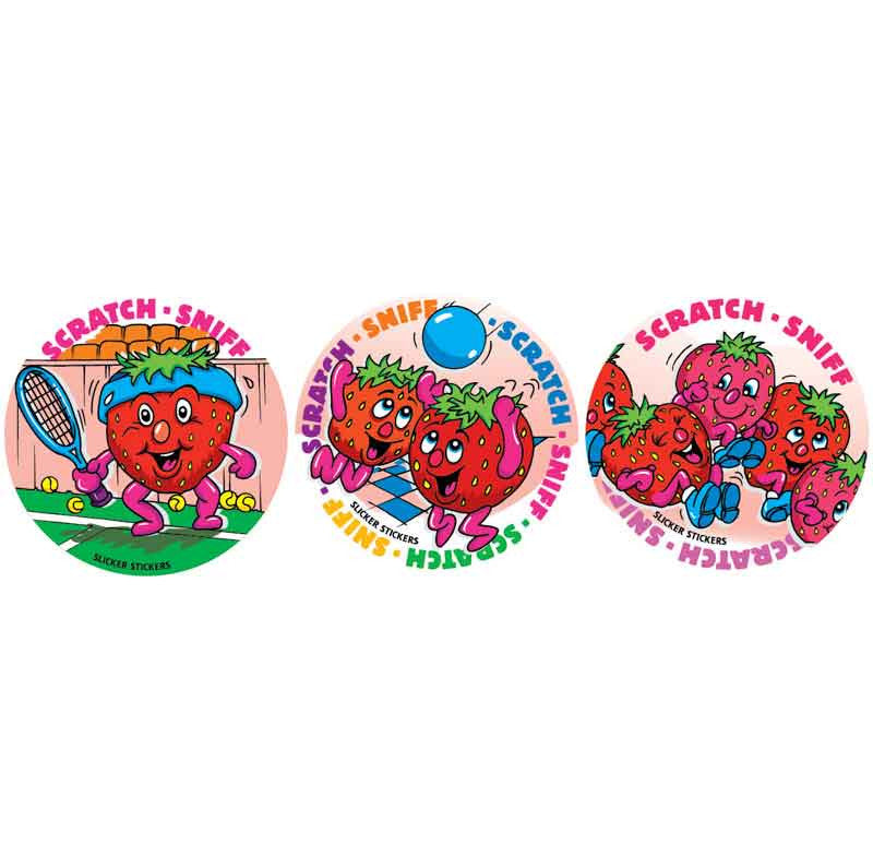 #953 Strawberry Scratch n Sniff Smelly Stickers