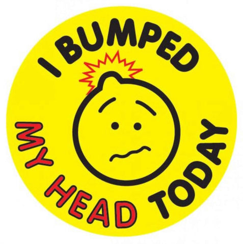 #105 I Bumped My Head Today Stickers