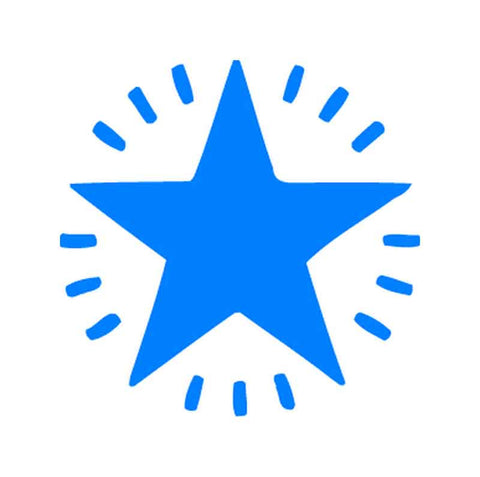 11365B Flashing Blue Star XStamper
