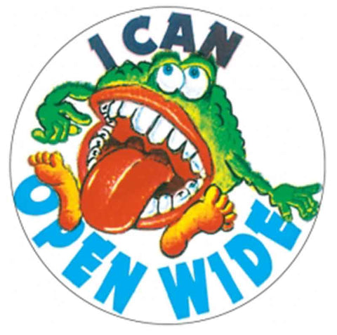 #12 I Can Open Wide Stickers