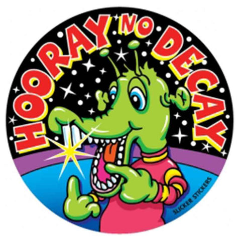 #14 Hooray No Decay Stickers