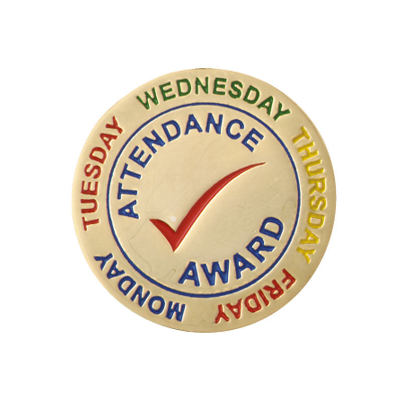 Attendance Enamel Award Badge – School Merit Solutions