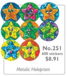 #251 Metallic Star Chart Seals Stickers Multipack