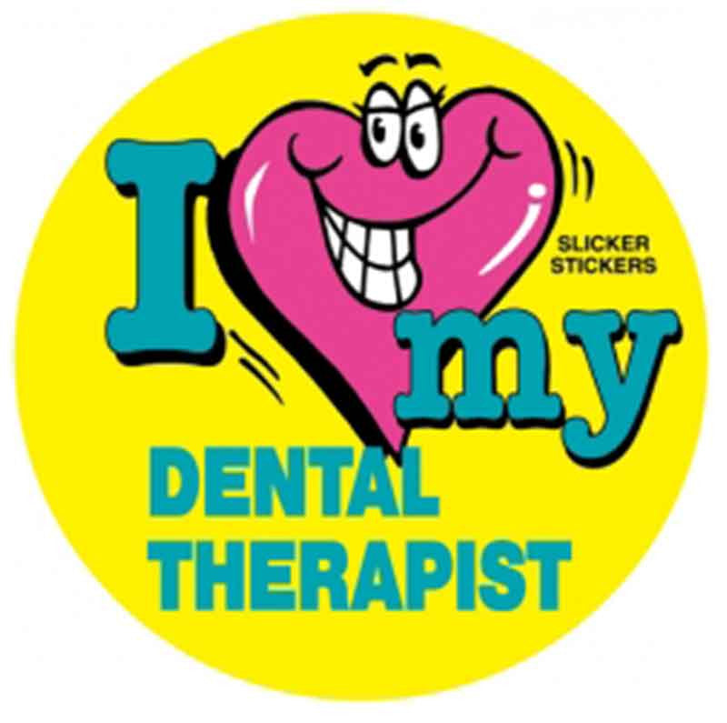 #39 I Love My Dental Therapist Stickers