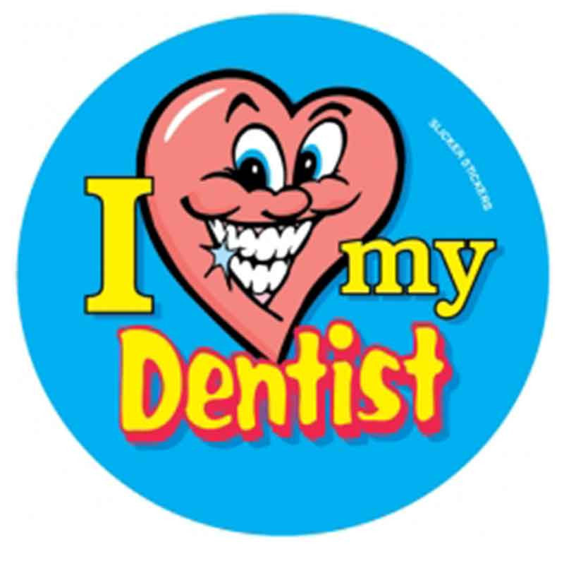 #42 I Love My Dentist Stickers