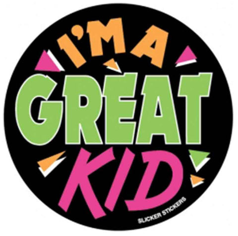 #4 I'm A Great Kid Large Stickers