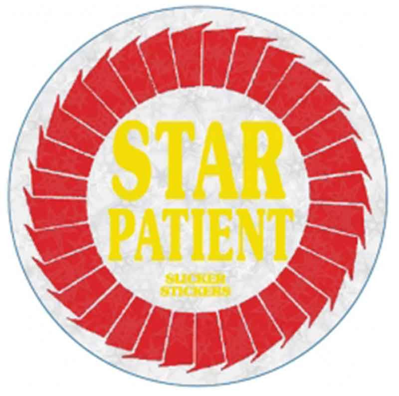 #7 Star Patient Metallic Stickers