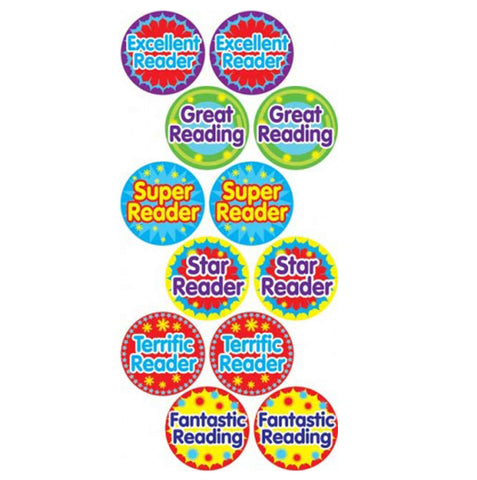 #528 Reading Stickers Multipack
